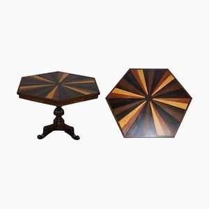 19. Jh. Anglo-Indischer Tisch oder Beistelltisch aus Holz