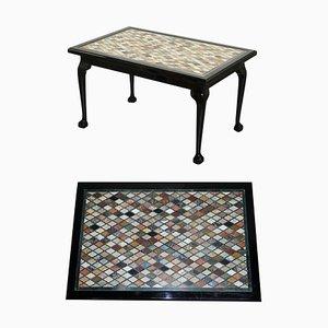 Italienischer Vintage Marmor oder Esszimmertisch mit Klauenfüßen
