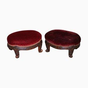 English Small Footstools, 1760s, Set of 2