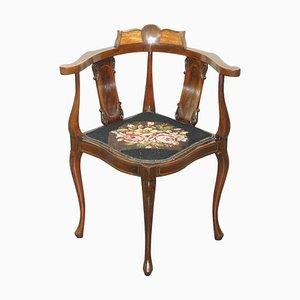 Inlaid Victorian Corner Chair