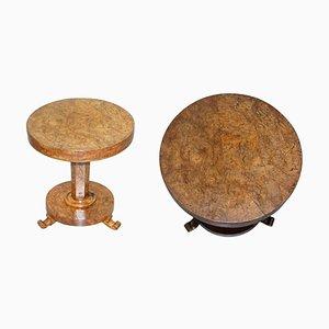 Victorian Pollard Oak Side Table