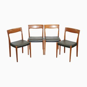 Danish Dining Chairs with Teak Frames by Svegards Markaryd, Set of 4