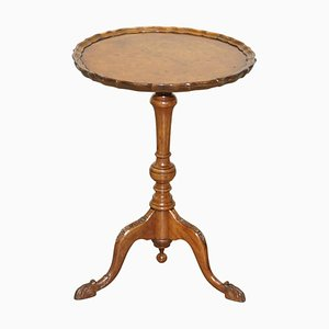 19th Century Burr Walnut Tripod Side Table