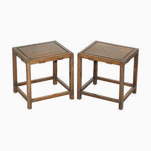 Antique Chinese Side Tables, 1860s, Set of 2