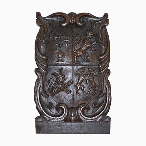Hand Carved Royal Coat of Arms, 1660s