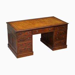 Antique Hardwood Pedestal Desk, 1810s