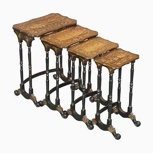Tables Chinoiseries Laquées, Chine, 1880s, Set de 4