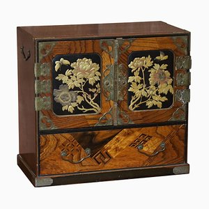 Chinese Calamanda Speciamine Wooden Chest of Drawers, 1880s