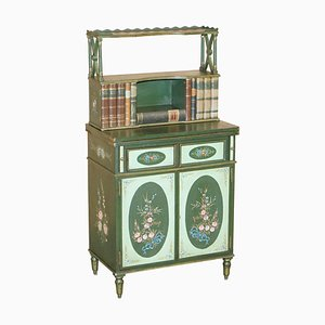 Kleiner Schreibtisch mit Schreibplatte aus Leder von Maitland Smith