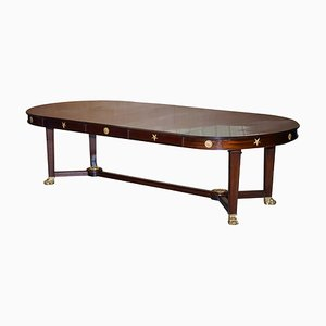 Large French Napoleon III Empire Style Dining Table