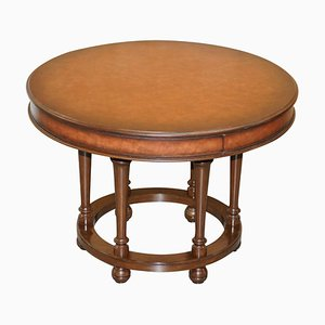 Small Dining Table with Brown Leather from Ralph Lauren