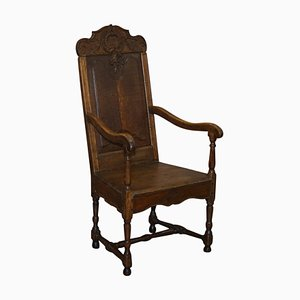 18th Century Carved Wood Armchair