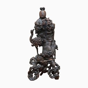 Chinese Wood Carving of Buddha, 1880s