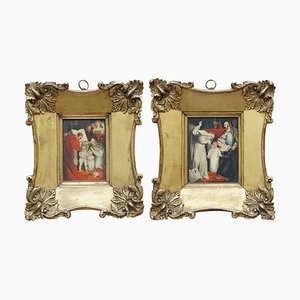 17th Century Small Oil Paintings, Set of 2