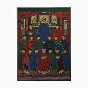 Grand Tableau Portrait d'Ancêtre, Chine, 1880s