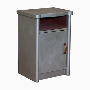 Art Deco Industrial Bedside Table with Drawer & Aluminium Frame from Huntington Aviation