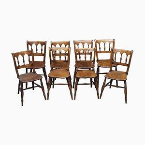 Englische Windsor Thames Valley Esszimmerstühle, 1840er, 8er Set