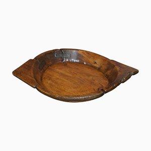Large French Walnut Fruit Bowl