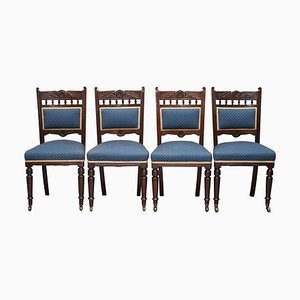 Victorian Solid Hardwood Dining Chairs from Maple & Co., Set of 4