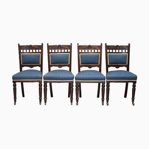 Viktorianische Esszimmerstühle aus Massivholz von Maple & Co., 4er Set