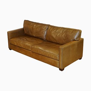 Viscount Tan Leather 3-Seater Sofa from Timothy Oulton