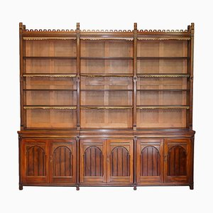 Gothic Revival Victorian Library Bookcase from Holland & Sons