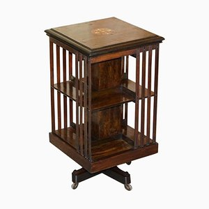 Antique Hardwood Revolving Bookcase