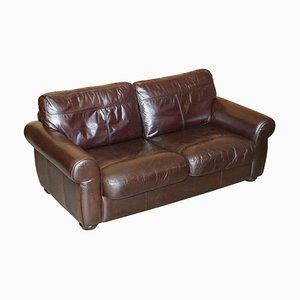Heritage Brown Saddle Leather 2 or 3-Seater Leather Sofa from John Lewis