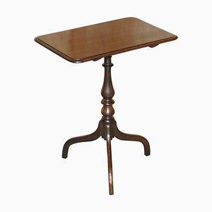 Englischer Dreibein Tisch aus Hartholz mit Neigbarer Tischplatte