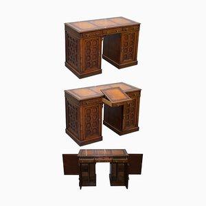 Gothic Revival Schreibtisch von Gillows