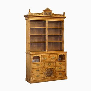 Victorian Burr & Oak Bookcase from Reid and Sons