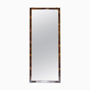 Victorian Walnut Framed Glass Wall Mirror, 1880s