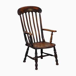 19th-Century Elm Thames Valley Oxford Windsor Armchair