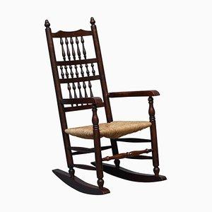 Antiker viktorianischer Sussex Stuhl aus Ulmenholz von William Morris