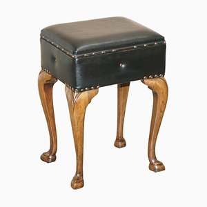 Antique French Walnut Piano Stool with Internal Storage, 1880s