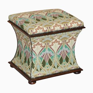 Victorian Upholstered Ottoman from Liberty, London, 1880s