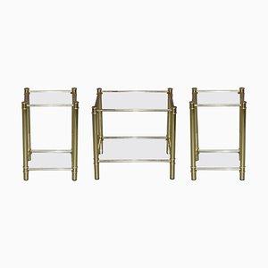Vintage Gold Gilt Tables, Set of 3