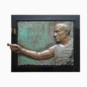 Bronze Wandbild von Bill Mack