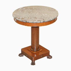Napoleon III French Empire Revival Occasional Table with Marble Top
