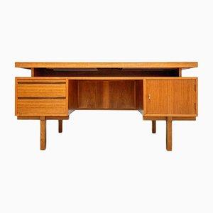 Large Minimalistic Walnut Writing Desk, 1960s