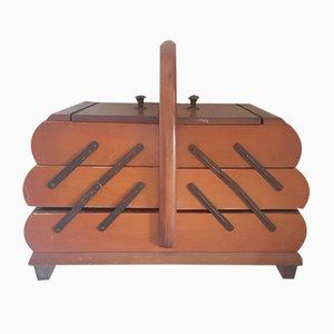 Antiker Nähkasten aus Holz
