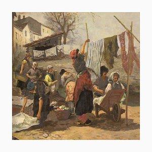 Italienische Malerei Szene der Waschfrauen