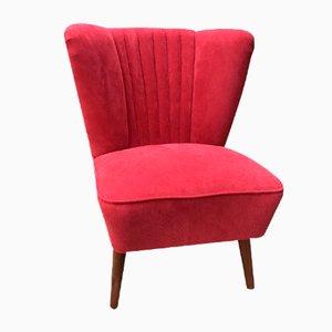 Sedia da cocktail rossa, anni '50