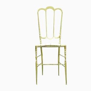 Italian Brass Chiavari Side Chair, 1950s