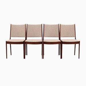 Teak Stühle von Johannes Andersen, Dänemark, 1970er, 4er Set
