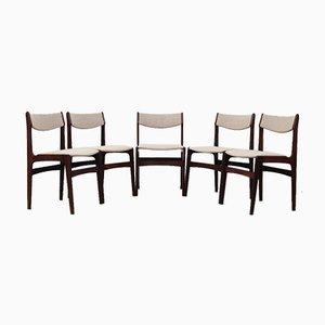 Palisander Stühle, Dänemark, 1970er, 5er Set