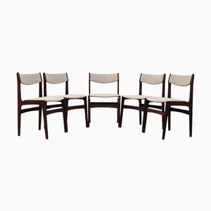 Rosewood Chairs, Denmark, 1970s, Set of 5