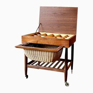 Mid-Century Teak Sewing Cabinet by Ejvind Johansson