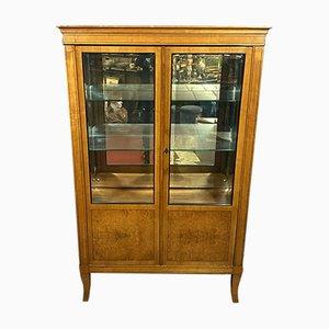 Louis XV Bücherregal mit glasierten Seiten aus Amboine Wurzelholz