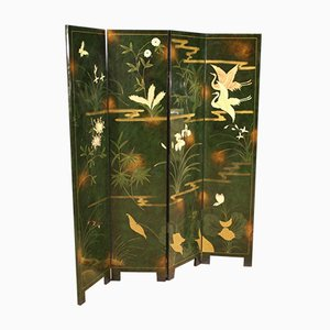 French Lacquered and Painted Screen